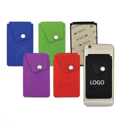 Silicone Phone Pocket stander card case