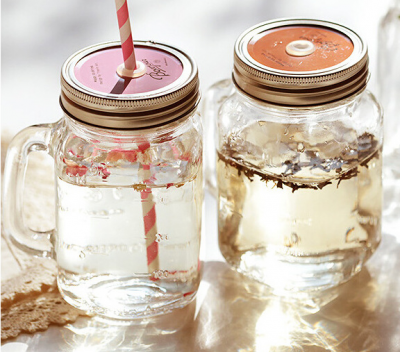 Mason Jar with Handle and Straw