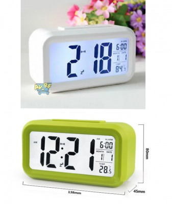 LED Clock, Rectangular Alarm Clock