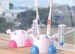 Tooth brush holder & timer