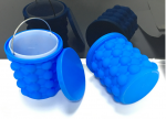 Silicone ice bucket mold